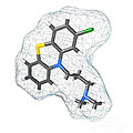 Chlorpromazine, Molecular Model by Spencer Sutton