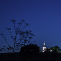 Church Under Night Sky by Zoltan Albertini