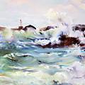 Churning Surf by P Anthony Visco
