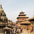 Chyasim Deval Krishna Temple In The Durbar Square In Patan In Th by Didier Marti