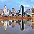 Cincinnati Reflects by Frozen in Time Fine Art Photography