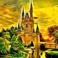 Cinderella Castle - Van Gogh Style by Leonardo Digenio
