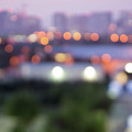 City Lights Bokeh Night Abstract by Alex Grichenko