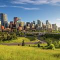 City Skyline Of Calgary, Canada by Miroslav Liska