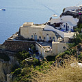Cliff Perched Houses In The Town Of Oia On The Greek Island Of Santorini Greece by Richard Rosenshein