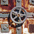Close Up View Of An Unusual Door That Is Part Of An Old Rundown Building In Katakolon Greece by Richard Rosenshein