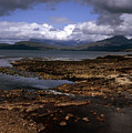 Cloud Passing Across The Cuillin Main Ridge And Bla Bheinn From Tokavaig Sleat Isle Of Skye Scotland by Michael Walters