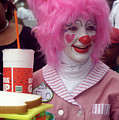 Clown With Pink Hair by Carl Purcell