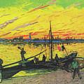 Coal Barges by Vincent van Gogh