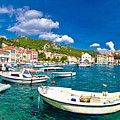Coastal Town Of Hvar Waterfront Panorama by Brch Photography