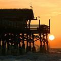 Cocoa Beach Pier/sunrise by W Gilroy