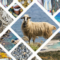 Collage Of Crete  by Mariusz Prusaczyk