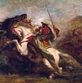 Collision Of Moorish Horsemen by Eugene Delacroix