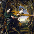 Colonel Acland And Lord Sydney - The Archers by Joshua Reynolds