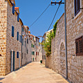 Colorful Mediterranean Stone Street Of Prvic Island by Brch Photography