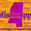 Colorful Mississippi State Pride Map Silhouette  by Keith Webber Jr