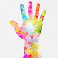 Colorful Painting Of Hand by Setsiri Silapasuwanchai