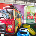 Colorful Retro Minivan Of Exit Festival 2015 In City Center Of N by Newnow Photography By Vera Cepic