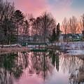 Colorful Sky Over Shorey Park by Darylann Leonard Photography