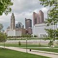 Columbus Ohio Through The Trees by John McGraw