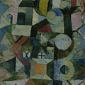 Composition With The Yellow Half-moon And The Y by Paul Klee