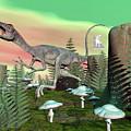Compsognathus Dinosaur - 3d Render by Elenarts - Elena Duvernay Digital Art