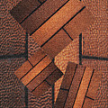Copper Plate Abstract by Tom Janca