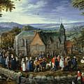 Country Wedding by Jan Brueghel the Elder