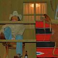 Cowboy On Porch by Richard Jenkins