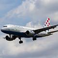 Croatia Airlines Airbus A319 by David Pyatt