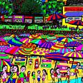 Crowded Beach by Karen Elzinga