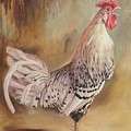 Crowing Rooster by Hans Droog