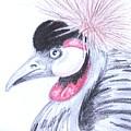 Crowned Crane by Teresa Trimble