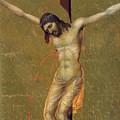 Crucifixion Fragment 1311  by Duccio