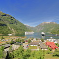 Cruise In Geiranger Fjord Norway by Arild Lilleboe