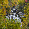 Cullasaja Falls In Autumn by John MacLean