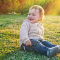 Cute Baby Boy Outdoors by Anna Om