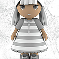 Cute Little 3d Girl by Maria Astedt