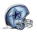 Dallas Cowboys Helmet by James Sayer