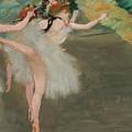 Dancers In White by Edgar Degas