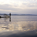 Dawn On Inle Lake by Michele Burgess