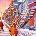 Debullion Street Winter Walk by Carole Spandau