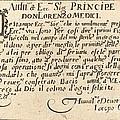 Dedication To Don Lorenzo De' Medici by Jacques Callot