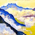 Dents Du Midi In Clouds by Ferdinand Hodler