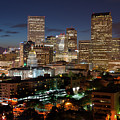 Denver Evening Skyline by Steve Mohlenkamp