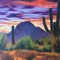 Desert Sunset by Lilo Buppert