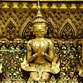 Detail From A Buddhist Temple In Bangkok Thailand by Anthony Totah