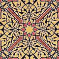Detail Of Ceiling Arabesques From The Mosque Of El-bordeyny by Emile Prisse d'Avennes
