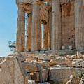 Detail Of The Acropolis Of Athens, Greece by Tom Zeman