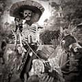 Dia De Los Muertos Dia De Los Muertos Couple On A Horse by Gregory Dyer